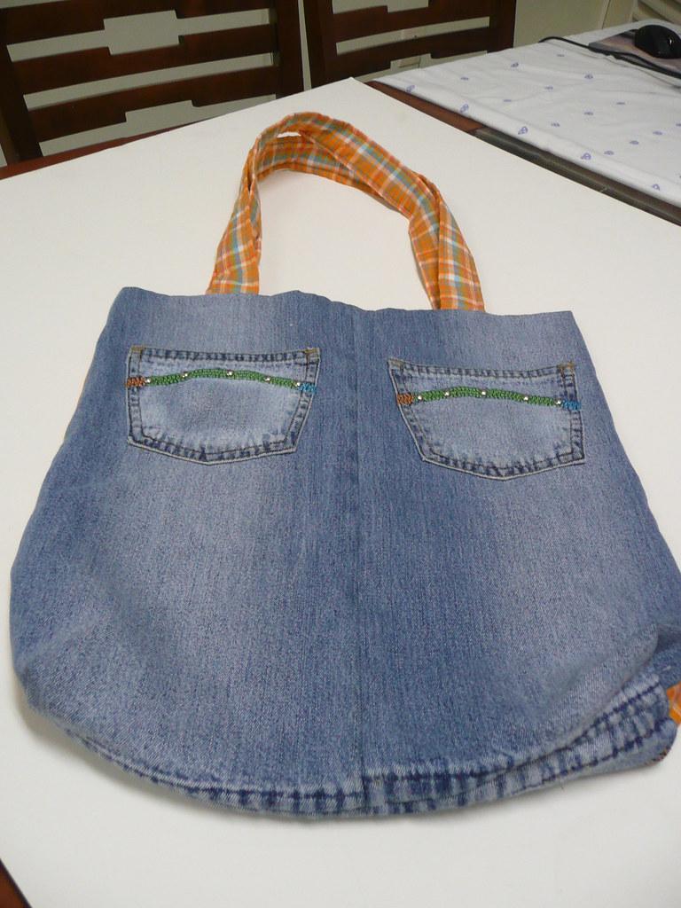 Bolsa Calça Jeans Bolsa Feita Com Calça Jeans