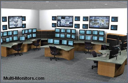 Military Training And Command Multi Monitor Computer Desk ...