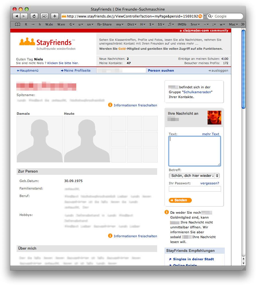 Stayfriends email und passwort vergessen