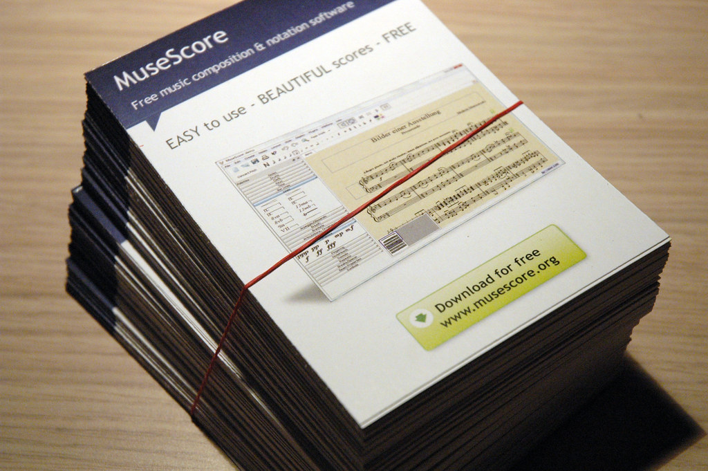 MusikMesse flyers | MuseScore promotional flyers for the Fra