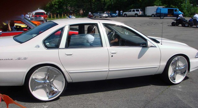 White car with rims