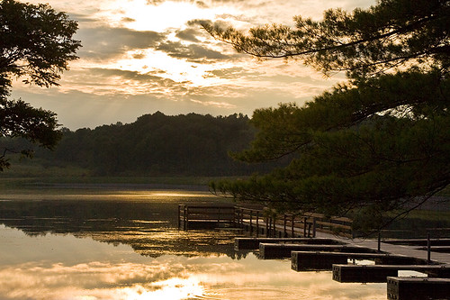 park ohio water clouds sunrise canon reflections pier fishing dock solitude peaceful silvercreek tamron summitcounty 50d boatslips 1750mm mseals