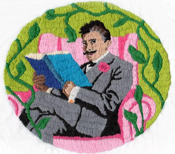 Dapper Gentleman embroidery