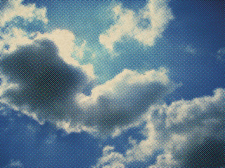 Retro Halftone Clouds | by Digital Yard Sale