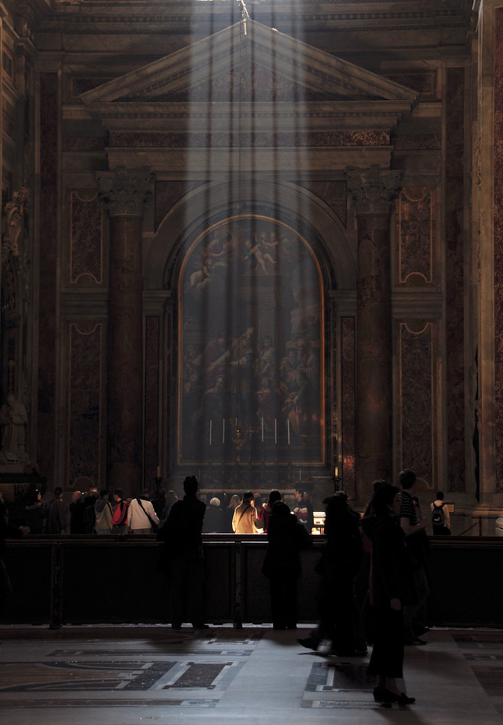 Divine Light in St Peter's Basilica? by James Rainsford