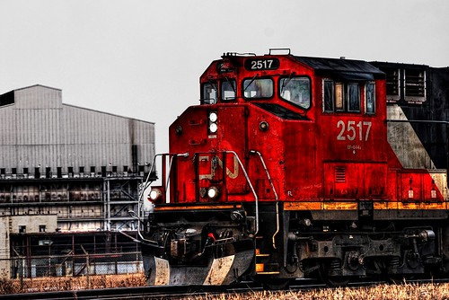 railroad canada cn train engine railway alberta hdr