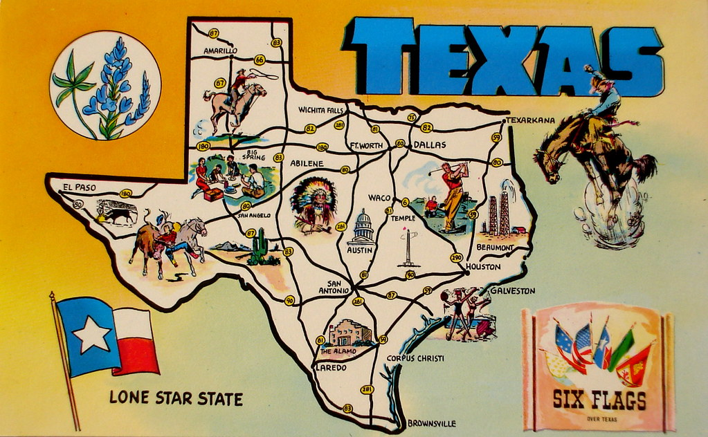 Texas map postcard | Smaddy | Flickr on cartoon map of philly, cartoon map of wyoming, cartoon map of corpus christi, cartoon map of sweden, cartoon map of rhode island, cartoon map of dominican republic, cartoon map of seattle washington, cartoon map of usa, cartoon map of u.s, cartoon map of bay area, cartoon map of fort worth, cartoon map of bronx, cartoon map of guam, cartoon map of haiti, cartoon map of caribbean, cartoon map of lexington, cartoon map of detroit, cartoon map of baltimore, cartoon map of burbank, cartoon map of ri,