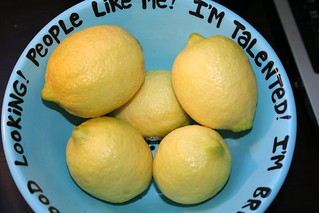 big bowl o'self-esteem (and lemons) | by Bakerina