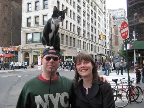 Man with Cat on Head & Mel