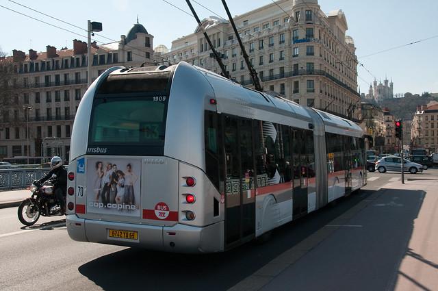 Lyon, trolleybus Cristallis