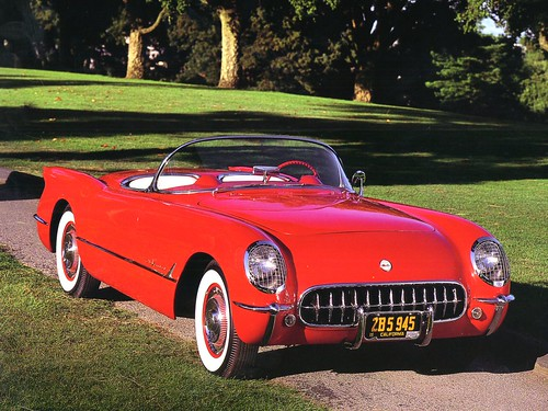 1955_Chevrolet_Corvette_V_8_Convertible_Red_Rt_Frt_Qtr | by mashleymorgan