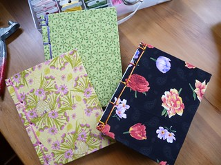 Done! 3 fabric covered notebooks from Issue 7 WSW
