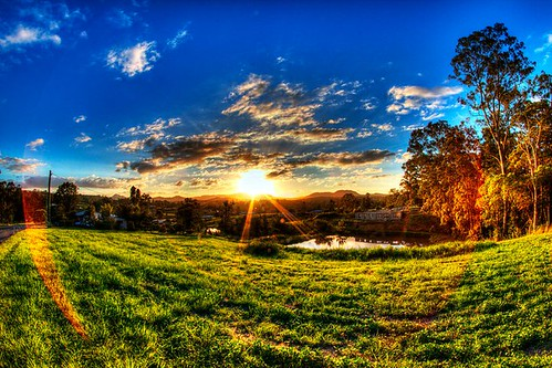sunset photoshop hills hdr 2010 decade gympie