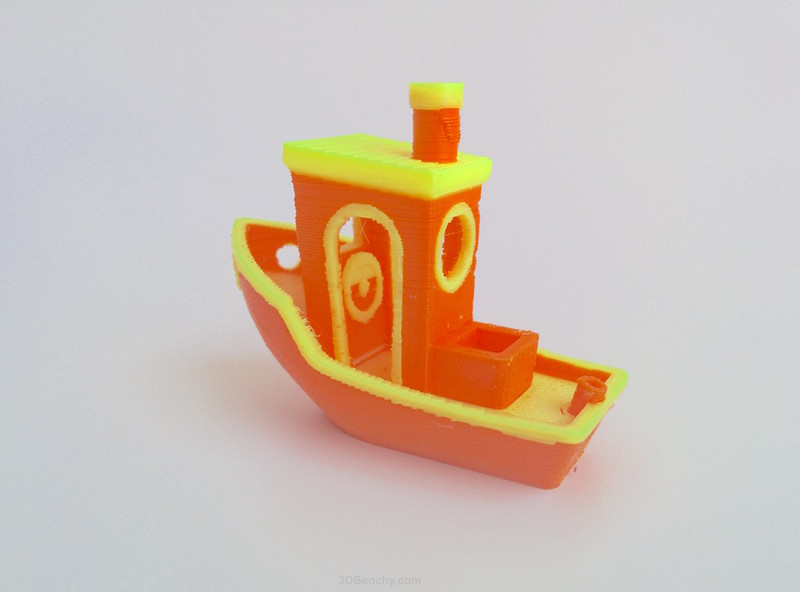 #3DBenchy 3D-printed in two colours - 3DBenchy.com v3