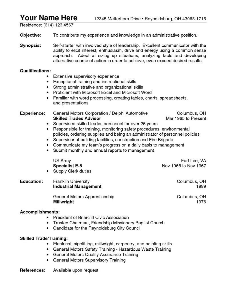 sample of resume with no experience  best resume ideas
