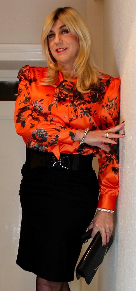 de style élégant acheter pas cher grandes marques Pretty satin blouse | Bethany La Belle | Flickr