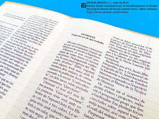Exemplar antic de la Revista d'autor Un mar degota, de Ferran Cerdans Serra.