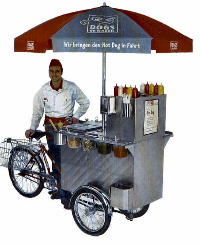 Hot dog vendor tricycle, Worksman Cycles