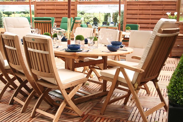 Stupendous Teak Garden Furniture And Wooden Decking This Garden Furni Ocoug Best Dining Table And Chair Ideas Images Ocougorg