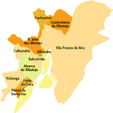 Concelho De Vila Franca De Xira Mapa Das Freguesias Jorge