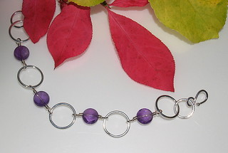Fused circle & amethyst bracelet 005 | by Wicked Dark Photography