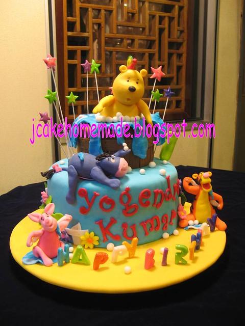 Winnie the Pooh theme cake