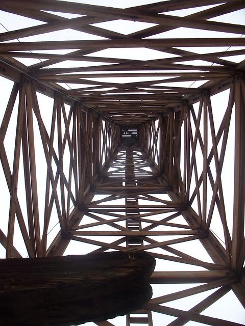 Wooden Derrick - Kern West Oil Museum