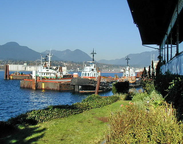 van02k03 The Cannery, Vancouver BC 2002 | View of harbour tu