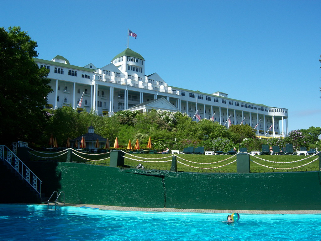 View Of The Grand Hotel On Mackinac Island From The Esthe Flickr