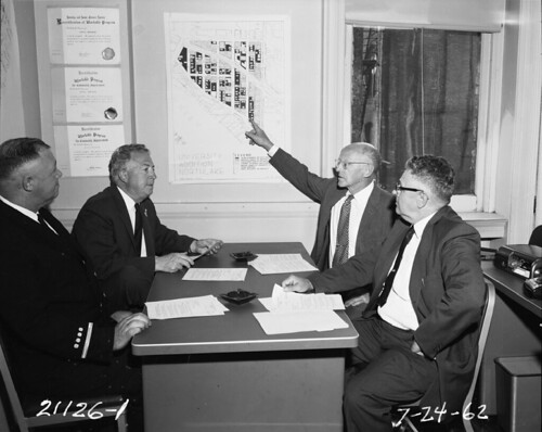 Urban renewal planning meeting, 1962