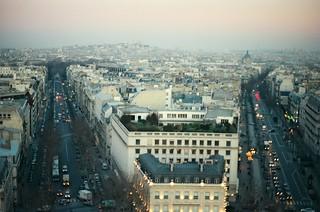 2. //131/6k/6,013/49.f - View of Montmartre from the Arc de Triomphe, Paris 1996
