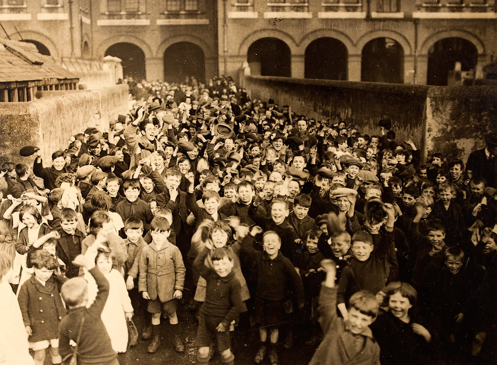 Children's Party, Dublin, 1920s at Rutland Street National School.