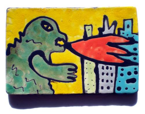Godzilla Tiles
