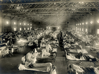 Emergency hospital during influenza epidemic (NCP 1603), National Museum of Health and Medicine. | by medicalmuseum