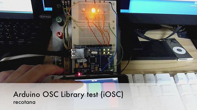 Arduino OSC Library test(iOSC)