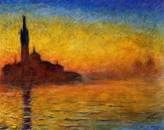 Claude Monet 1908 in Venice - W 1769 - San Giorgio Maggiore, Twilight