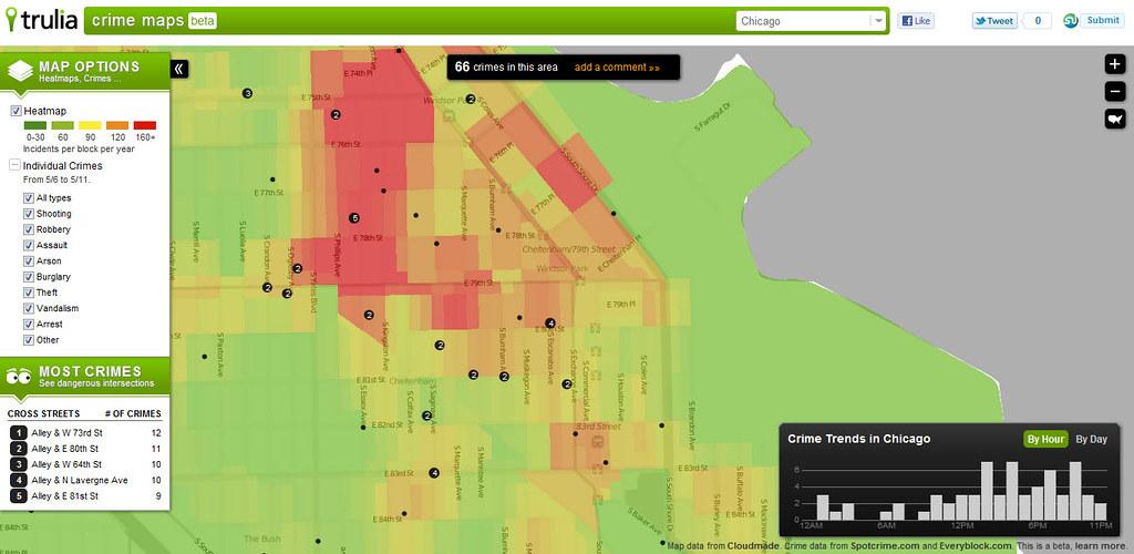 Crime Map - Chicago   Trulia   Flickr