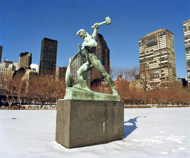 Statue by the Soviet Sculptor Evgeny Vuchetich