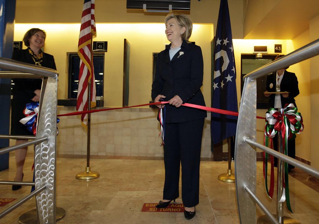 Secretary Clinton at U S  Embassy in Mexico City   U S  Secr