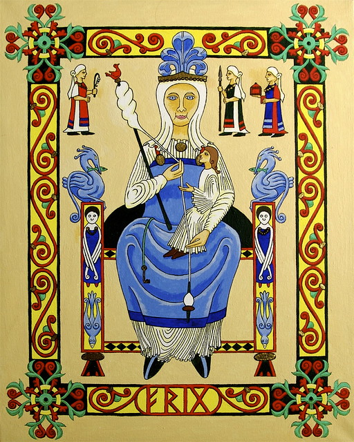 Frigg in Romanesque Style
