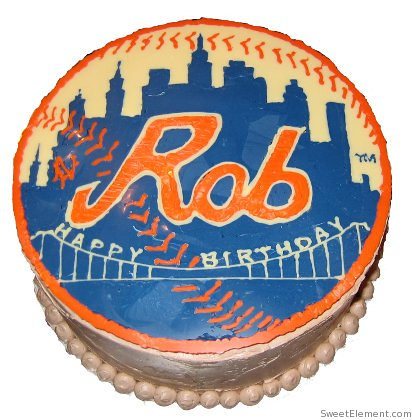 Mets Birthday Cake
