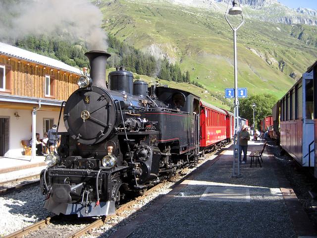 Dampfbahn Furka Bergstrecke 2009