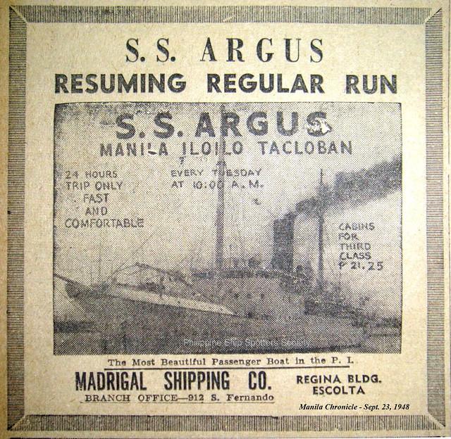 SS Argus 1948