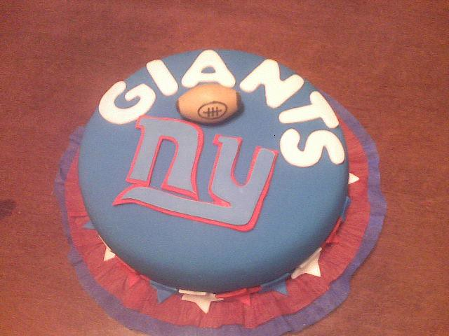 Terrific Ny Giants Birthday Cake Sandra Nunes Flickr Funny Birthday Cards Online Inifodamsfinfo