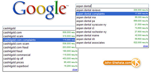 complaints google suggestions | by John Shehata 1