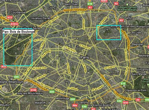 Google Maps Satellite Paris | Google Map Paris The Parc Bois ...