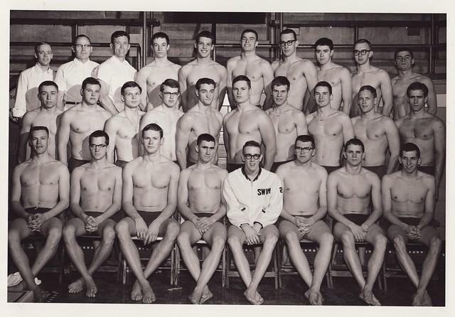 1963-1964 U of M Varsity Swimming Team