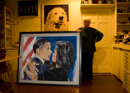 Judy North's Obama Watercolor for Manifest Hope DC