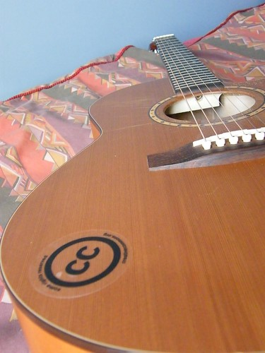 Acoustic Guitar CC Sticker | by balleyne