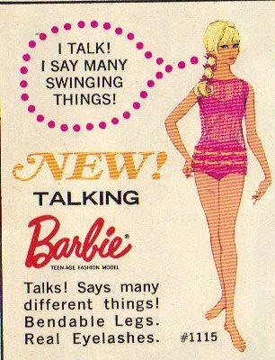 New! Talking Barbie - I say many Swinging Things!   Steve